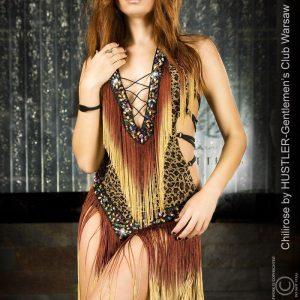 Leopard fringe dress