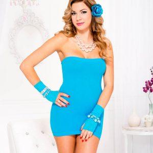 turquoise tube dress