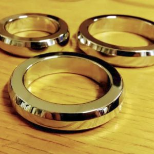 Steel polished flat cock ring