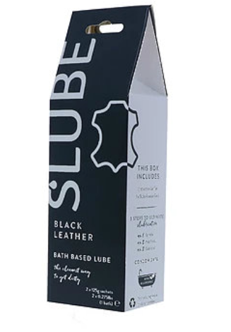 Slube Black Leather